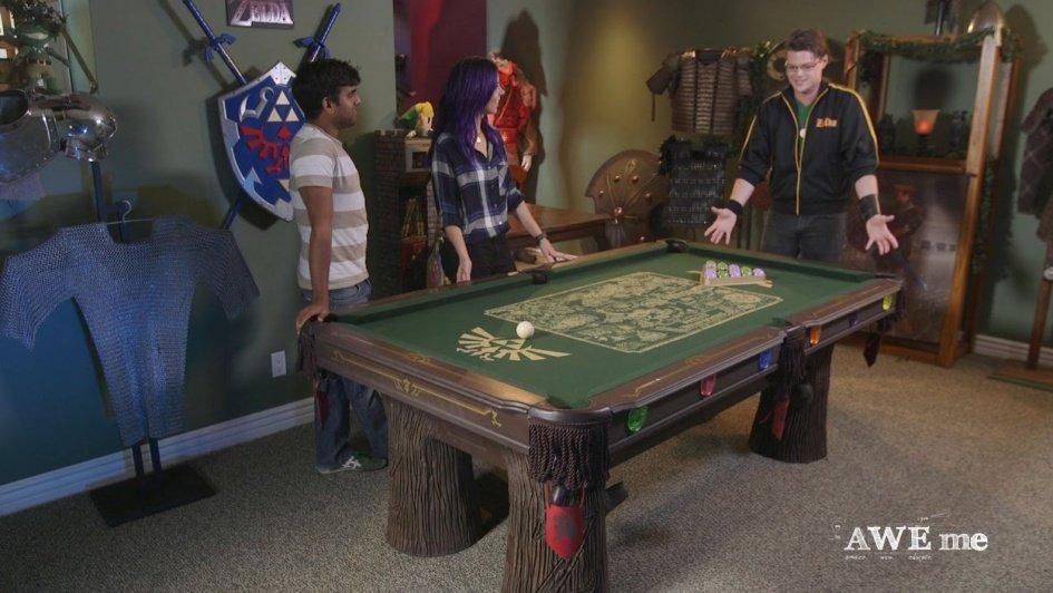 Zelda Super Fan Gets Custom Made Legend Of Zelda Pool Table Two - Pool table guys